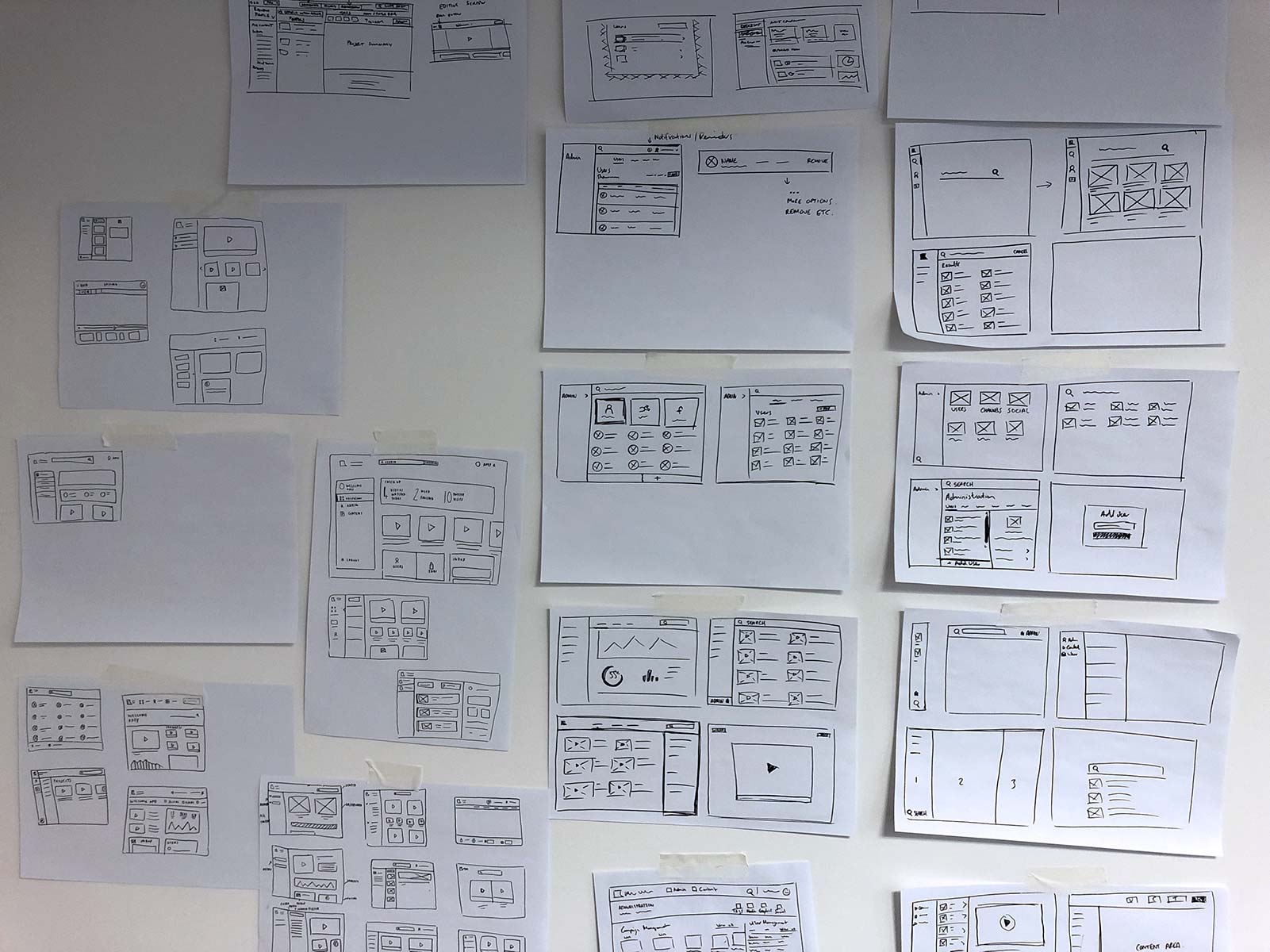 Early sketches for desktop app.